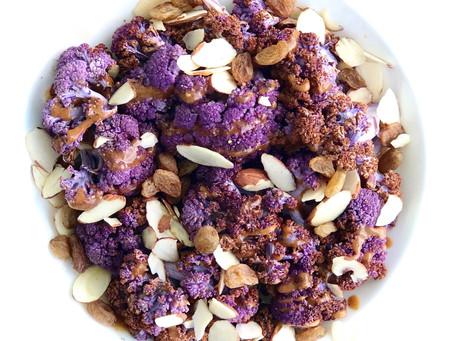 Roasted Purple Cauliflower Florets