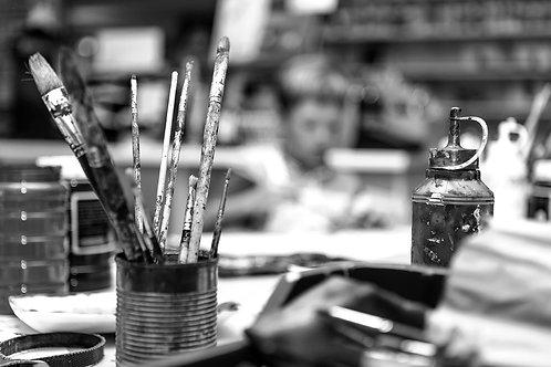 Peinture à l'huile, aquarelle, acrylique