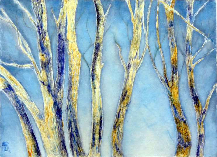 Les arbres bleus