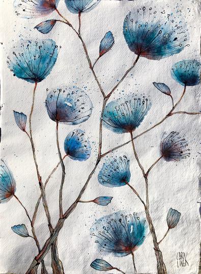 Blue Growing Things