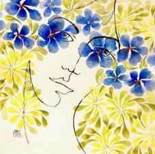 Flower Power Bleu & Jaune