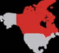 KODA Canada Map