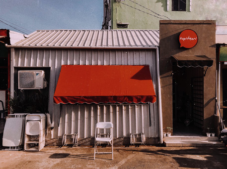 Three Point Awning for Film