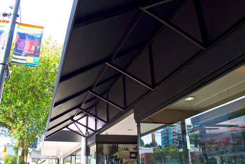 Grail and Town Shoes Custom Aluminum Framed Awning Vancouver