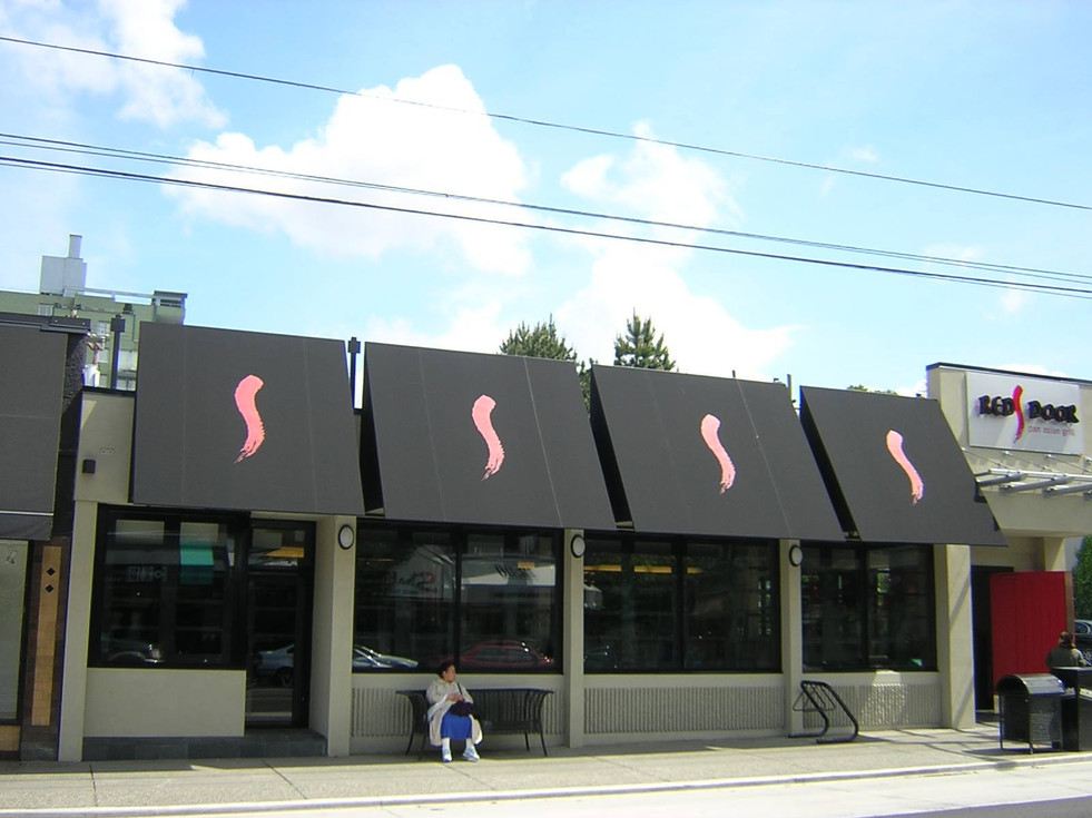 Red Door Vancouver Awning and Custom Graphics