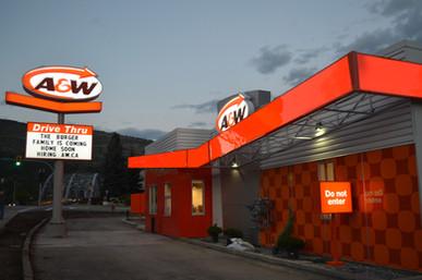 A&W LED sign