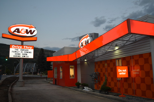 A&W LED Sign and Aluminum frame by Awnings West