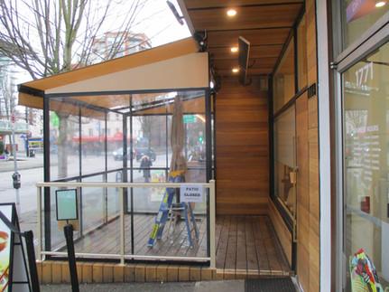 Retractable Restaurant Patio Cover and Enclosure