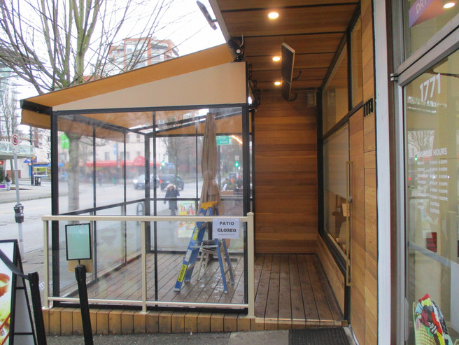 Retractable Restaurant Patio Cover and Enclosure