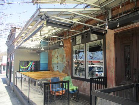 Restaurant Roller Curtain Enclosure