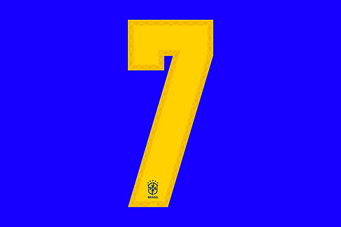 Brazil Away Number - Adult -7 (Pack of 10)
