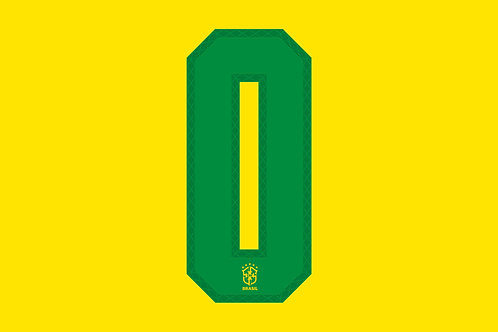 Brazil Home Number - Adult - 0 (Pack of 10)