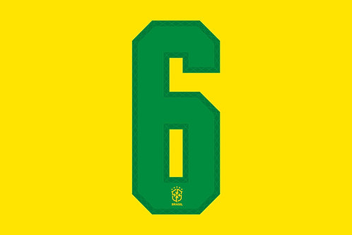 Brazil Home Number - Adult -6 (Pack of 10)