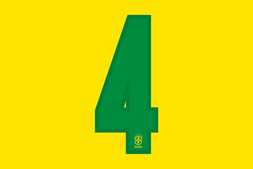Brazil Home Number - Adult -4 (Pack of 10)