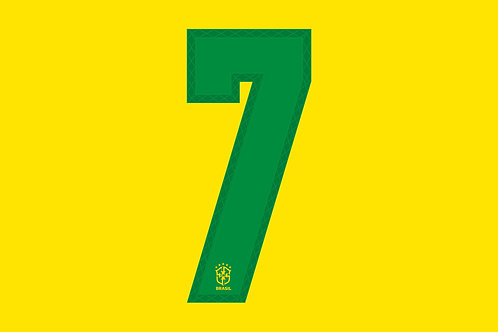 Brazil Home Number - Adult -7 (Pack of 10)