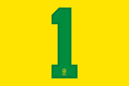 Brazil Home Number - Youth -1 (Pack of 10)