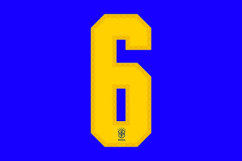 Brazil Away Number - Adult -6 (Pack of 10)