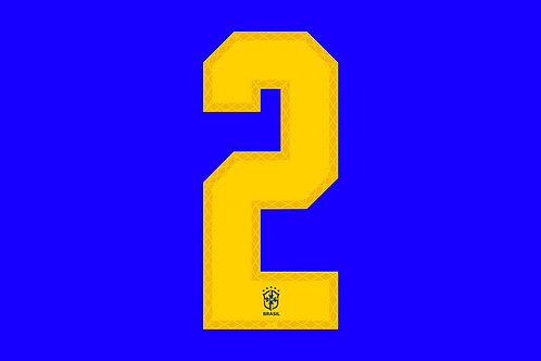 Brazil Away Number - Adult -2 (Pack of 10)