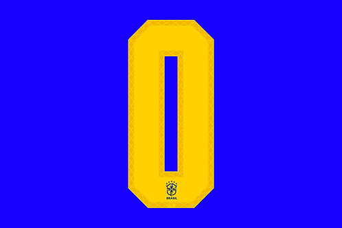 Brazil Away Number - Adult -0 (Pack of 10)