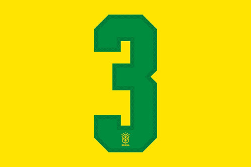 Brazil Home Number - Adult -3 (Pack of 10)