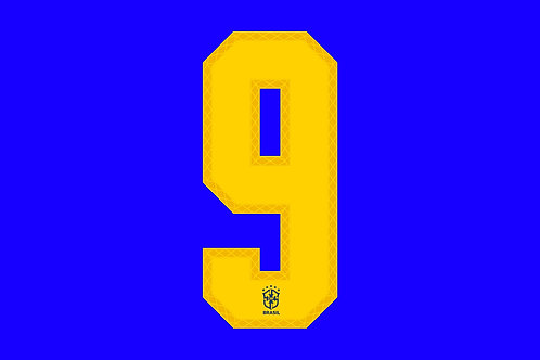 Brazil Away Number - Adult -9 (Pack of 10)