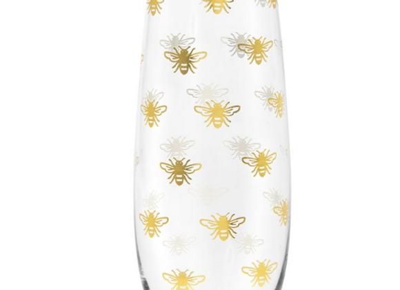 Gold Queen Bee Stemless Flute