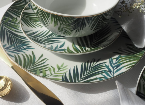Emerald Paradise Set of Four Dinner Plates, 27cm