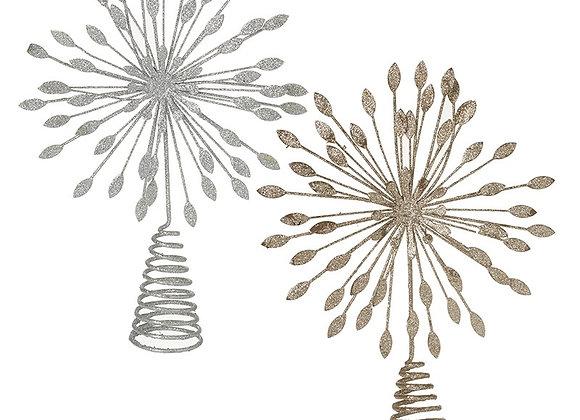 Glitter Sparkle Metal Tree Topper
