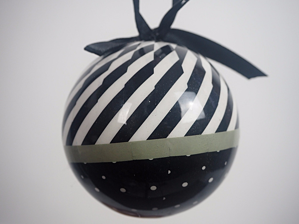 Black and white baubles | Honey Bee Home