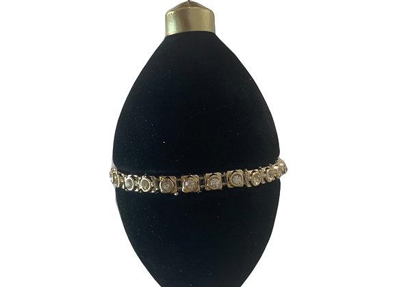 Black Velvet and Diamante Teardrop Bauble