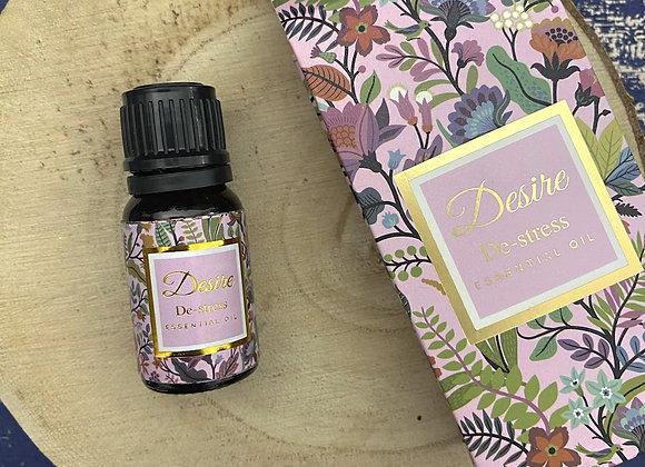 'De-stress' - Jasmine and Rosewood Essential Oil - 10ml