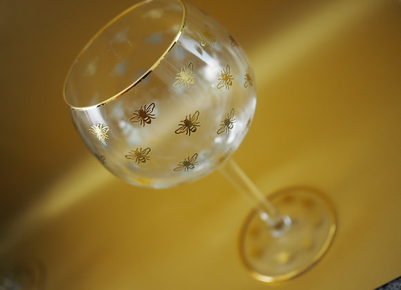 Queen Bee Gin Glass
