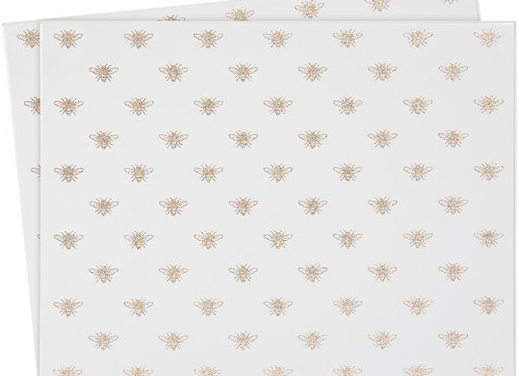 Set of 2 - Mirrored Queen Bee Placemats