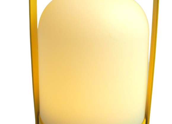 Bright Yellow Battery Operated Lamp