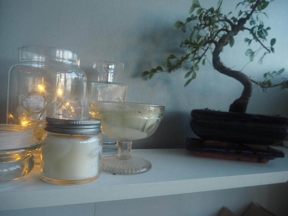 fairy light candle jars