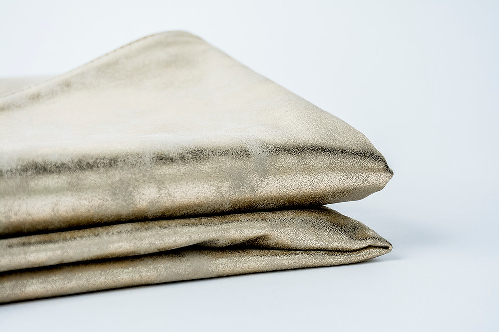 Gold suede effect throw | Honey Bee Home