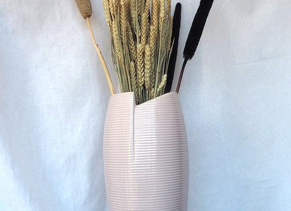 Thea-Rose Soft Pink Tall Ceramic Vase