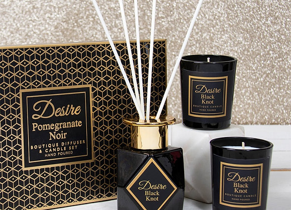 Pomegranate Noir Diffuser and Candle set - 100ml