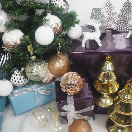 About the Monochrome and Metallic Christmas collection