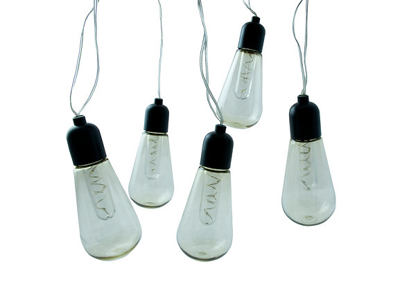 String of 5 Retro LED bulb garland