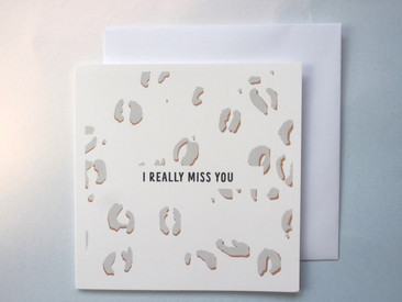 I Really Miss You card - Honey Bee Home