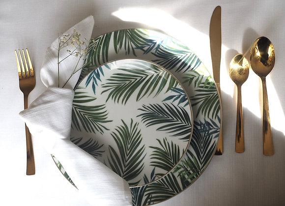 Emerald Paradise - Set of Four Side Plates, 19cm