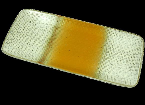 Solaris yellow and cream speckled ceramic trinket tray