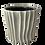 Thumbnail: Off White Ribbed Ceramic Planter