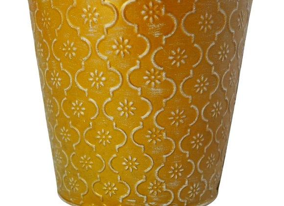 Gold Patterned Iron Plant Pot