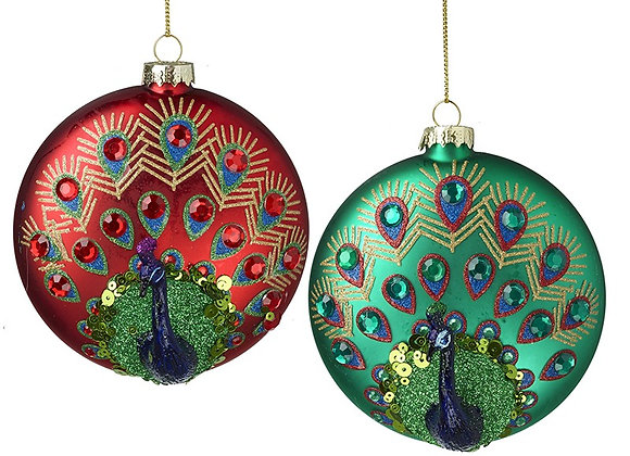Peacock Figurine Bauble