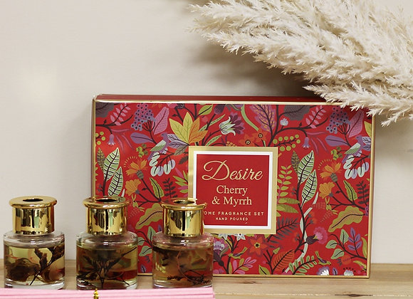 Cherry and Myrrh Scented Diffuser - set of 3