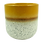 Thumbnail: Yellow and cream speckled ceramic candle pot