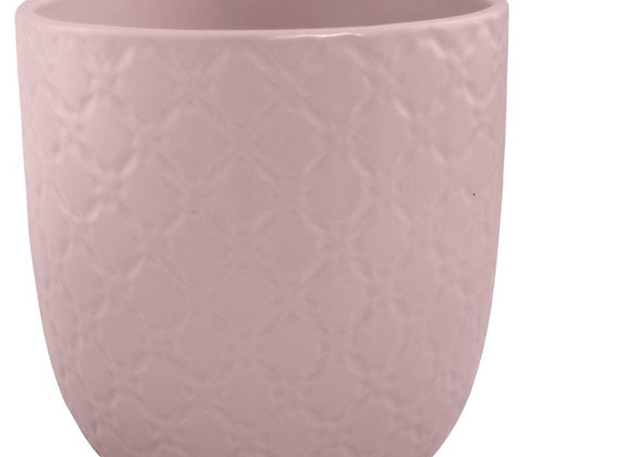 Blush Pink Textured Ceramic Plant Pot