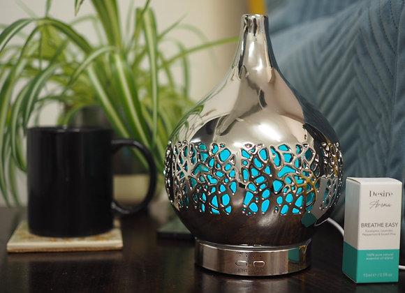 Silver Ceramic Electric Aromatherapy Diffuser